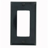 Leviton 1-Gang Decora Wall Plate-Black