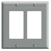 Leviton 2-Gang Decora Wall Plate-Gray