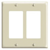 Leviton 2-Gang Decora Wall Plate-Light Almond