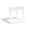 Leviton 2-Gang Decora Wall Plate-White