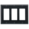 Leviton 3-Gang Decora Wall Plate-Brown