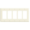 Leviton 5-Gang Decora Wall Plate-Almond