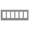 Leviton 6-Gang Decora Wall Plate-Gray