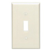 Leviton 1-Gang Toggle Switch Wall Plate-Almond