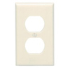 Leviton 1-Gang Duplex Receptacle Wall Plate-Almond