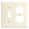 Leviton 2-Gang Combination Wall Plate 1-Toggle and 1-Duplex-Almond