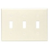 Leviton 3-Gang Toggle Switch Wall Plate-Almond