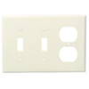 Leviton 3-Gang Combination Wall Plate 2-Toggle and 1-Duplex-Almond