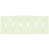 Leviton 6-Gang Toggle Switch Wall Plate-Almond