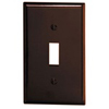 Leviton 1-Gang Toggle Switch Wall Plate-Brown
