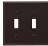 Leviton 2-Gang Toggle Switch Wall Plate-Brown