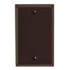 Leviton 1-Gang Blank Wall Plate-Brown