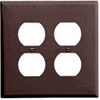 Leviton 2-Gang Duplex Receptacle Wall Plate-Brown