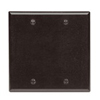 Leviton 2-Gang Blank Wall Plate-Brown
