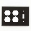 Leviton 3-Gang Combination Wall Plate 2-Duplex and 1-Toggle-Brown