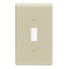 Leviton 1-Gang Toggle Switch Wall Plate-Ivory