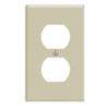 Leviton 1-Gang Duplex Receptacle Wall Plate-Ivory