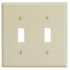 Leviton 2-Gang Toggle Switch Wall Plate-Ivory