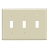 Leviton 3-Gang Toggle Switch Wall Plate-Ivory