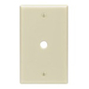 "Leviton 1-Gang 0.406"" Hole Telephone-Cable Wall Plate-Ivory"