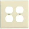 Leviton 2-Gang Duplex Receptacle Wall Plate-Ivory