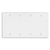 Leviton 4-Gang Blank Wall Plate-Ivory