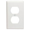Leviton 1-Gang Duplex Receptacle Wall Plate-White