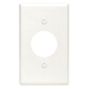Leviton 1-Gang Single 1.406 Inch Hole Receptacle Wall Plate -White