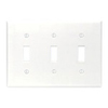Leviton 3-Gang Toggle Switch Wall Plate-White