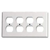Leviton 4-Gang Duplex Receptacle Wall Plate-White