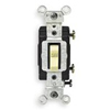Leviton Toggle Switch Single-Pole Commercial Grade-Ivory