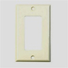 Leviton 1-Gang Decora Midway Wall Plate-Light Almond