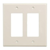 Leviton 2-Gang Decora Midway Wall Plate-Light Almond
