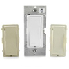 Vizia Digital Companion Dimmer-White Ivory and Almond Faceplates Included
