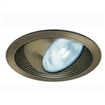 "Liton Lighting 6"" Line Voltage Regressed Eyeball w/ Baffle Trim-White"