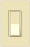 Lutron Claro Decorator Rocker Switch Single-Pole-Almond