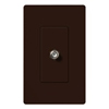 Lutron Claro Decorator Cable Jack Insert-Brown