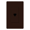 Lutron Claro Decorator Phone Jack Insert-Brown