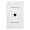 Lutron Claro Decorator Phone Jack Insert-White