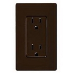 Lutron 15A Claro GFCI Receptacle-Brown