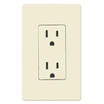 Lutron Claro Decorator Receptacle-Almond