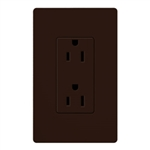 Lutron Claro Decorator Receptacle-Brown