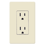 Lutron Claro Decorator Receptacle-Light Almond
