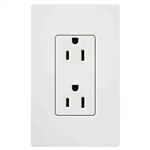 Lutron Claro Decorator Receptacle-White