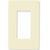 Lutron 1-Gang Claro Decorator Screwless Wall Plate-Almond