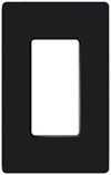 Lutron 1-Gang Claro Decorator Screwless Wall Plate-Black