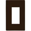 Lutron 1-Gang Claro Decorator Screwless Wall Plate-Brown