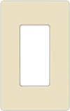 Lutron 1-Gang Claro Decorator Screwless Wall Plate-Light Almond