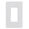 Lutron 1-Gang Claro Decorator Screwless Wall Plate-White