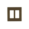 Lutron 2-Gang Claro Decorator Screwless Wall Plate-Brown